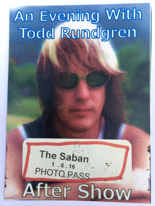 Todd Rundgren 1-6-2016