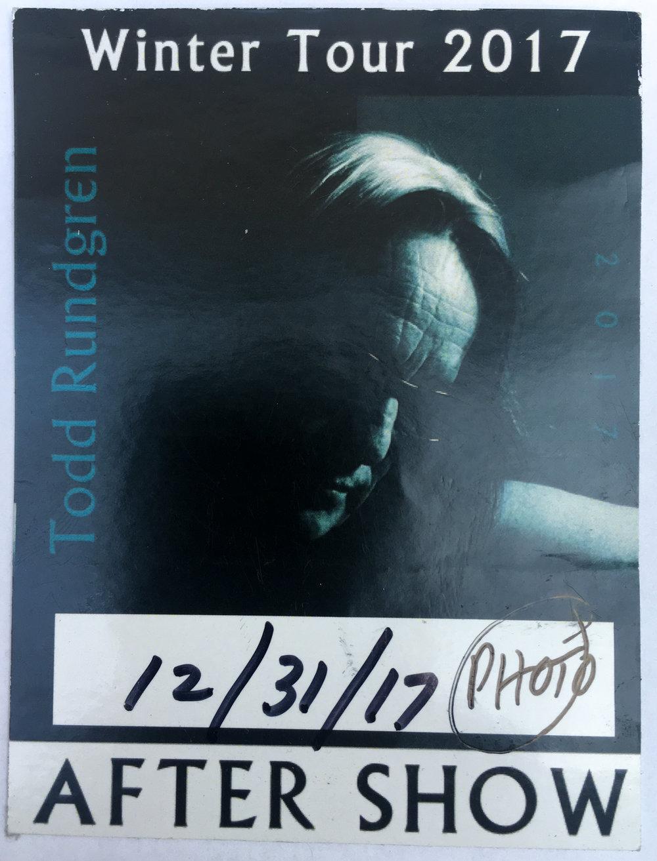 Todd Rundgren 12-31-2017