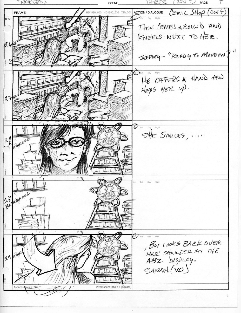 Fearless Episode Hunters - Storyboard sample C