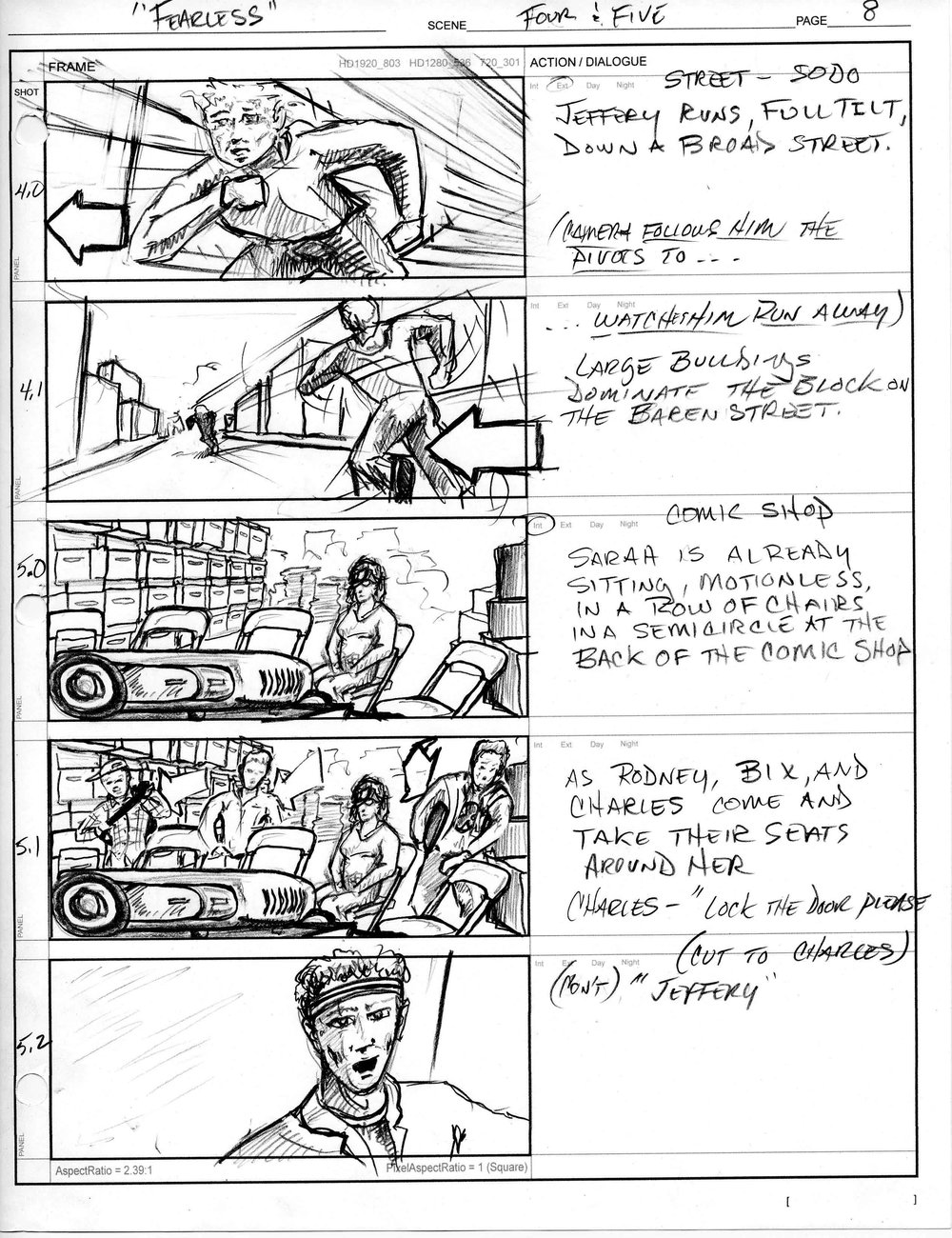 Fearless Episode Hunters - Storyboard sample D