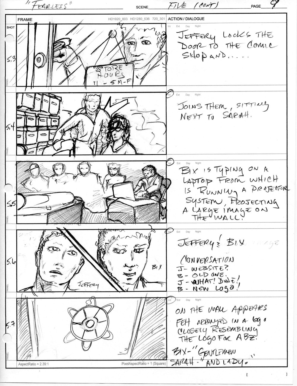 Fearless Episode Hunters - Storyboard sample E