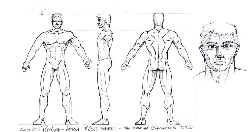 Anton - Character Model Sheet
