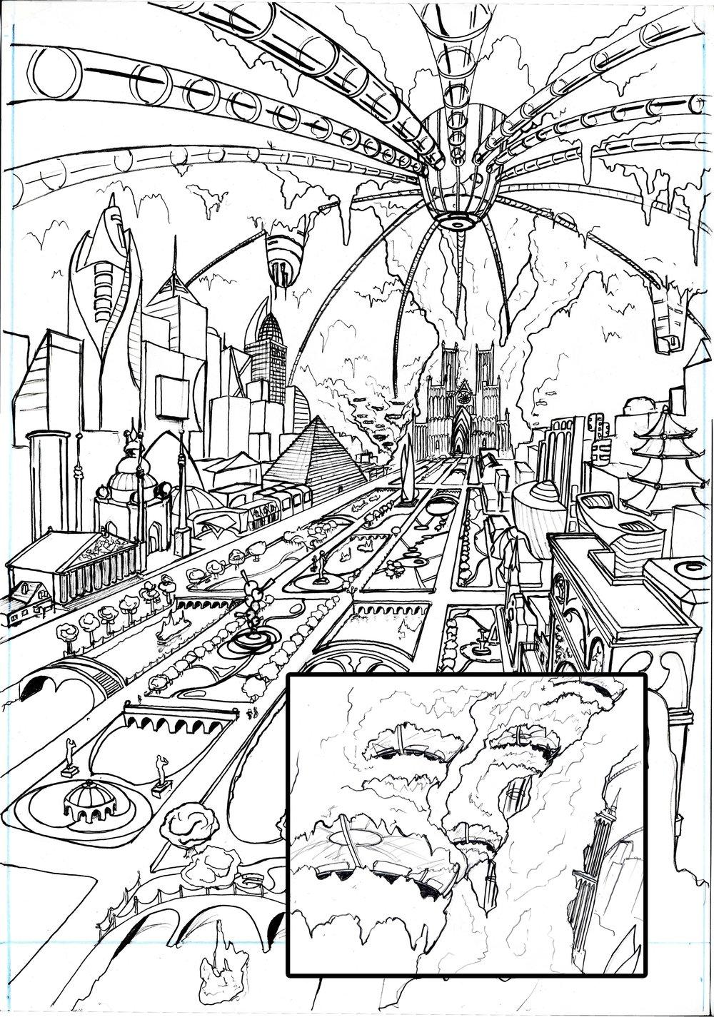 Underground Civilization Concept