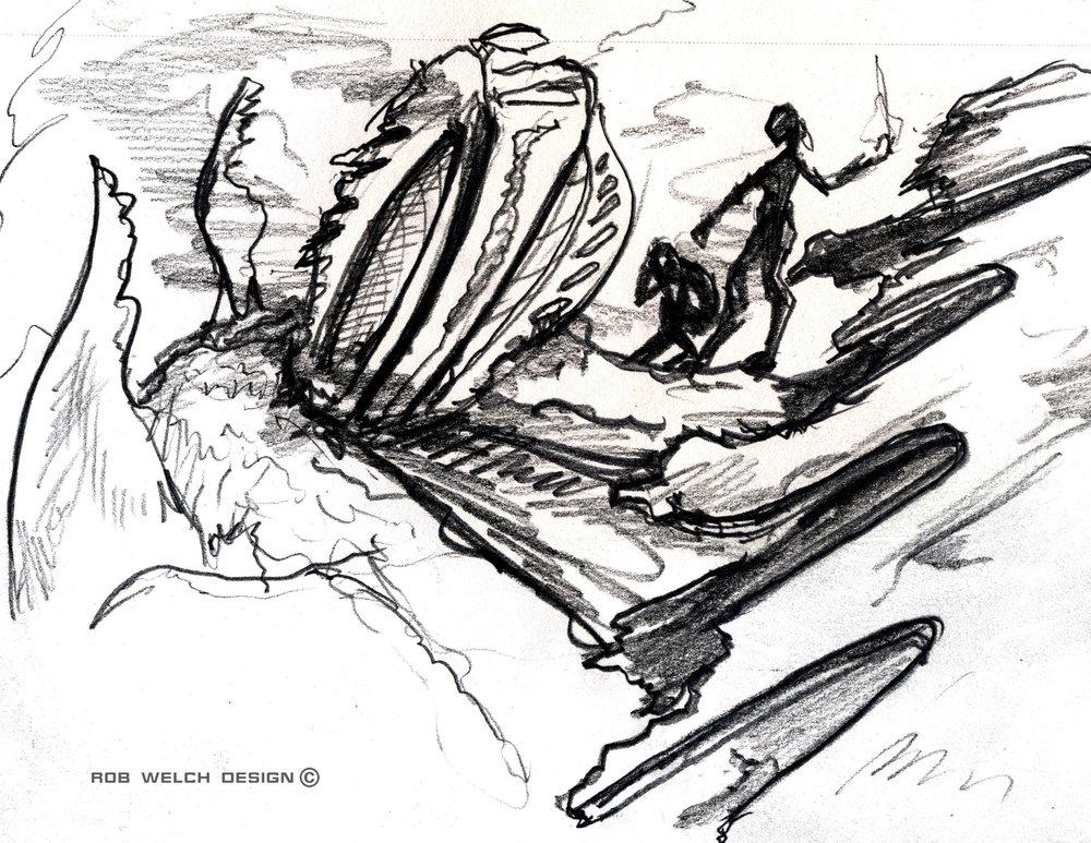 Alien Ship Crash Site Concept