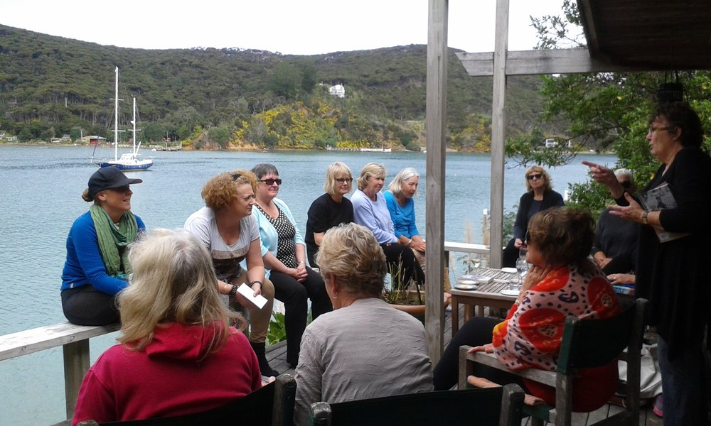 Community meeting on Kawau Island
