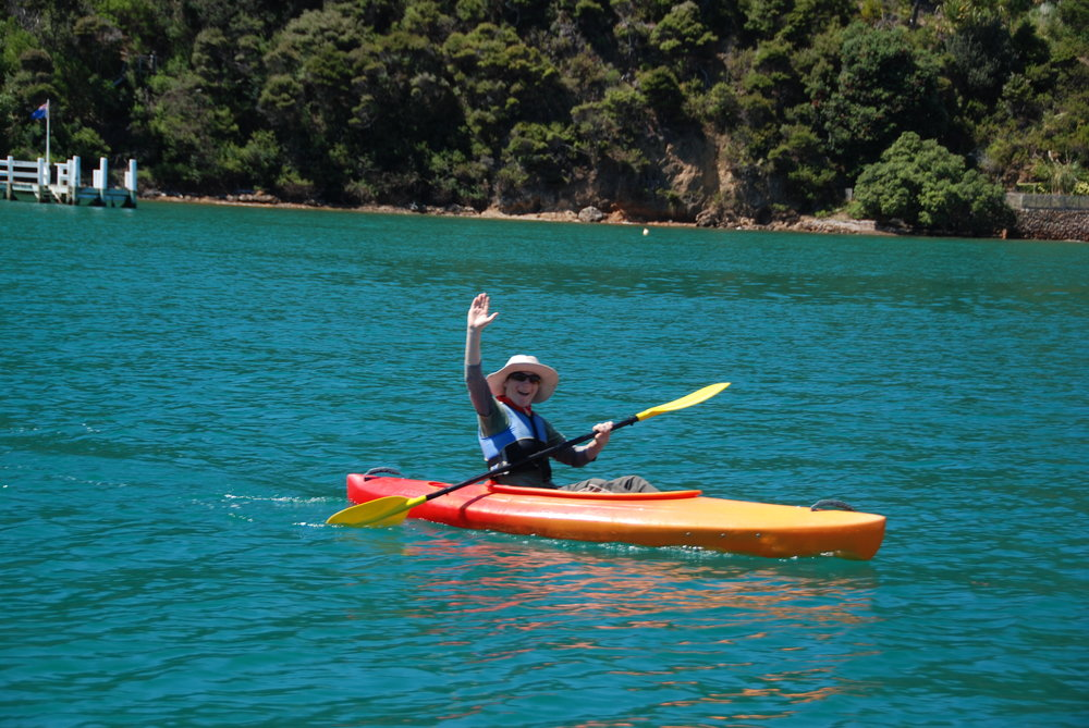 Kayaking on Kawau Island