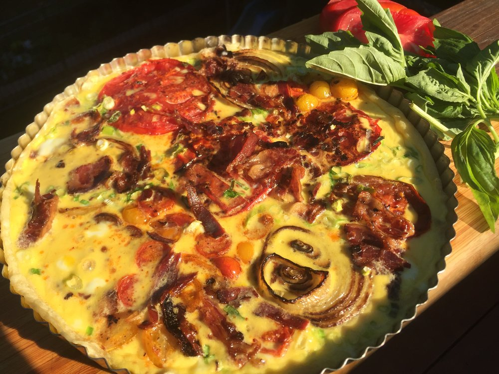 Tomato Tart with Smokey Joe's Kosher Bacon and Onion.JPG