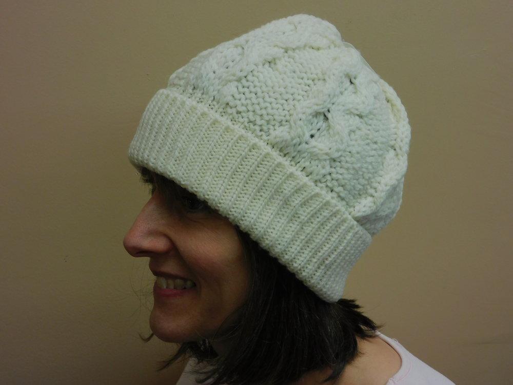 8d69b9920 Merino Wool Honeycomb Hat in Natural or Dark Green