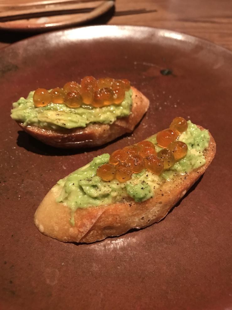 Avocado Ikura Pintxo