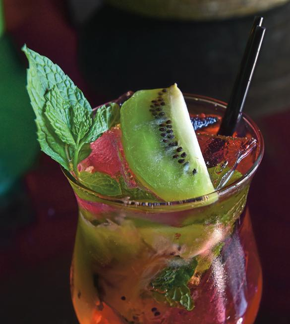 House mojito at Ras Kassa's Ethiopian Restaurant. ( Paul Aiken / Staff Photographer )