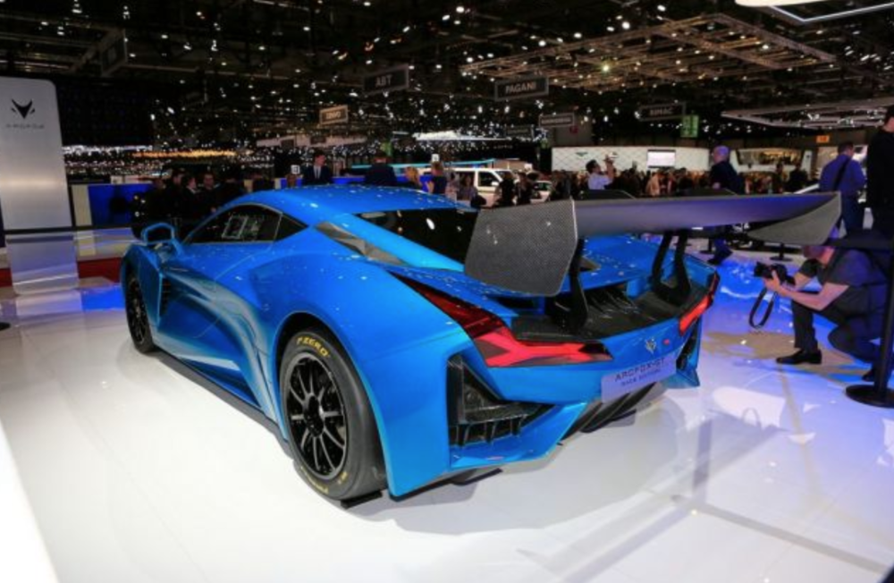 Photo: The ArcFox electric GT concept, packing 1,200 HP, was one of 3 ArcFox models at the Geneva Auto Show.