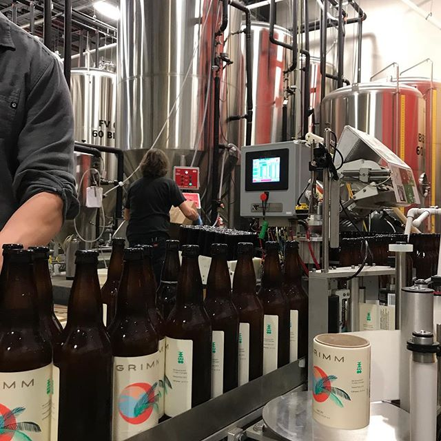 Grimm Vacay fresh off the line! #capsmobilebottling #craftbeer