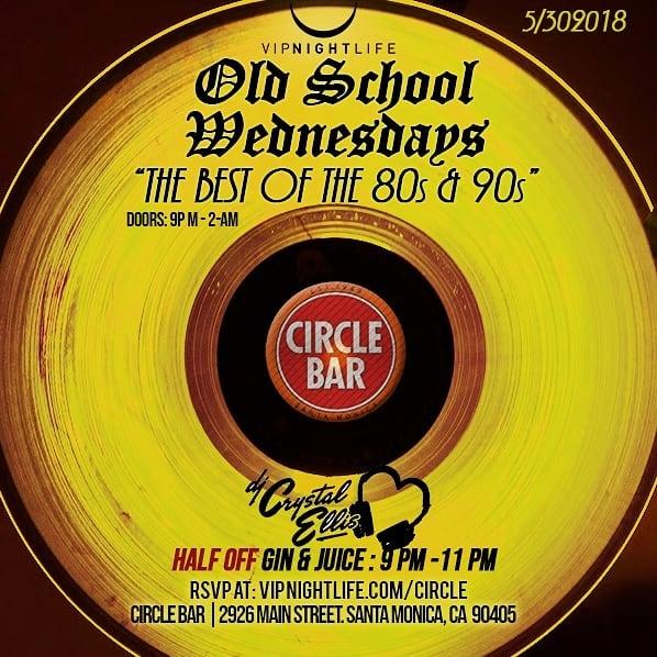 Kicking Off Old School Wednesdays tonight at the legendary Circle Bar!  #wednight .... #lanightlife #mainstreetsm #santamonica #venicebeach #santamonicabeach #marinadelrey #laist #eaterla #losangeles #siliconbeach #laclublife
