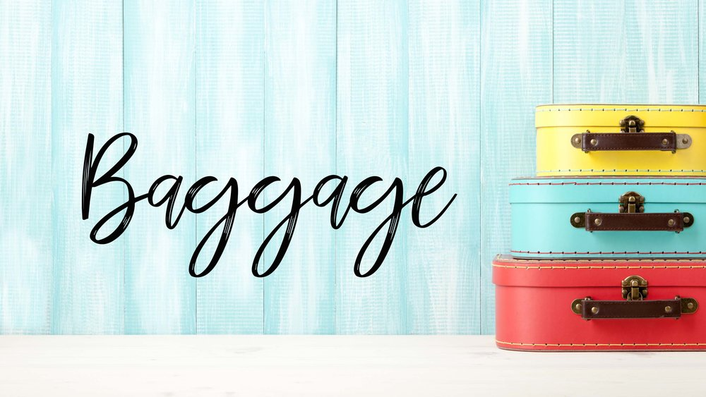Luggage, baggage, family travel baggage