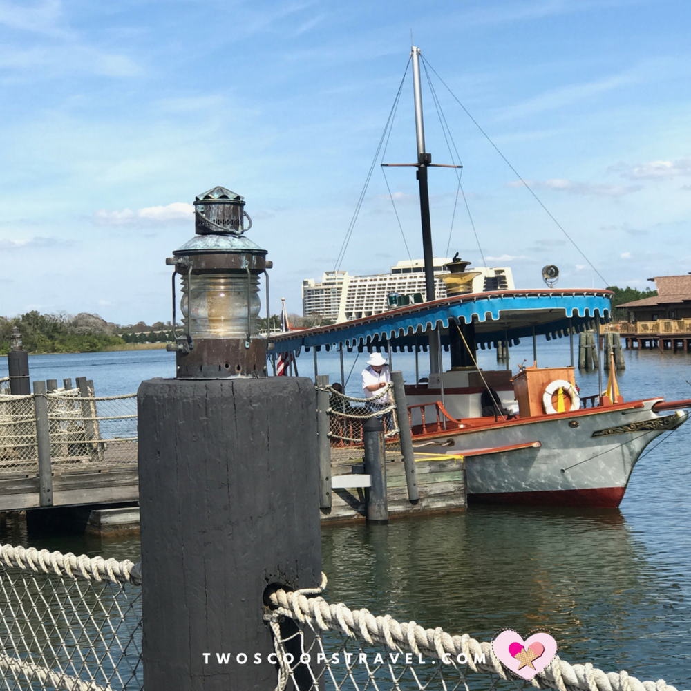 Disney's Polynesian Village Resort Boat Dock Transportation