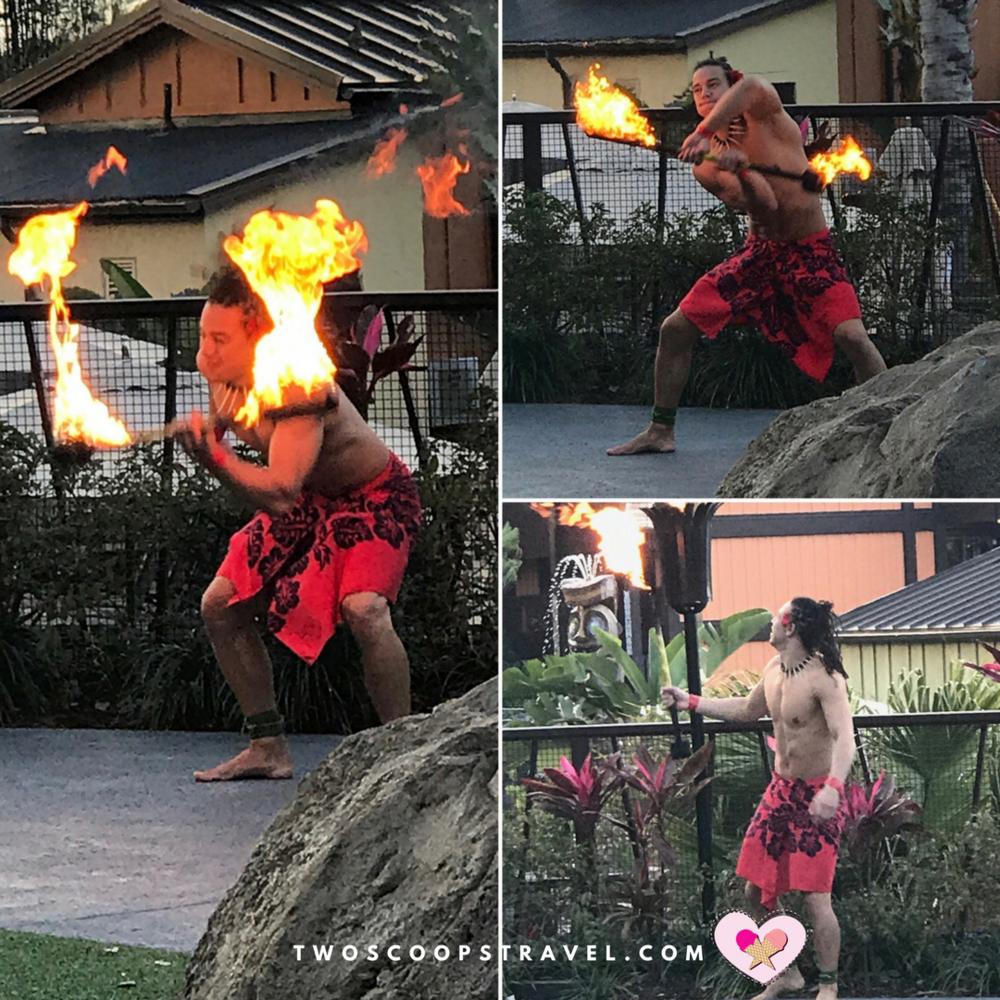 Torch-lighting ceremony at Disney's Polynesian Resort