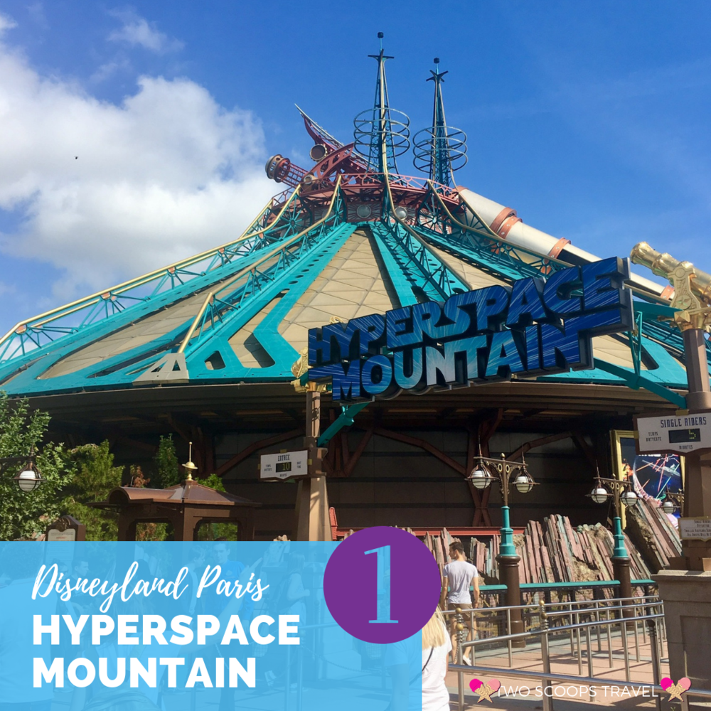 Best ride at Disneyland Paris - Star Wars Hyperspace Mountain - by Two Scoops Travel