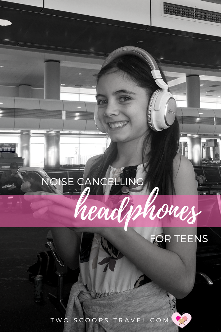 Review of Noise Cancelling Headphones by Two Scoops Travel