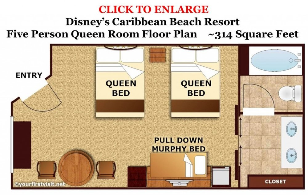 Preferred Room - 2 Queen Beds and 1 Pull Down Murphy Bed