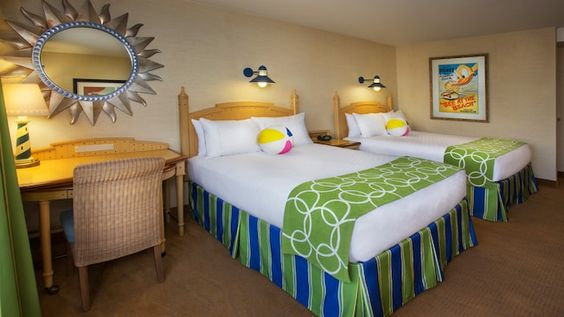 Standard View - Views of Disneyland Drive or Parking Area 2 Queen Beds and 1 Day Bed or 1 King Bed and 1 Queen-Size Sleeper SofaSleeps up to 5 Adults