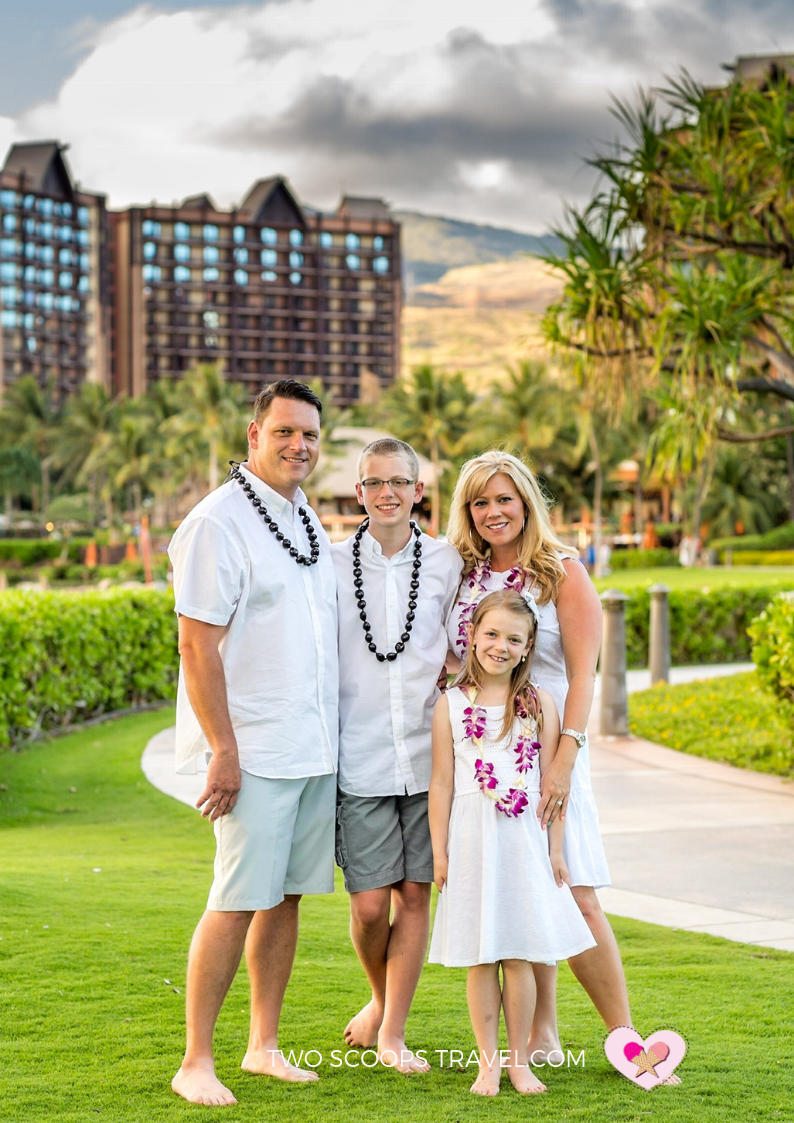 Capture the moment with family photo shoot at Disney Aulani Resort by Two Scoops Travel 2019