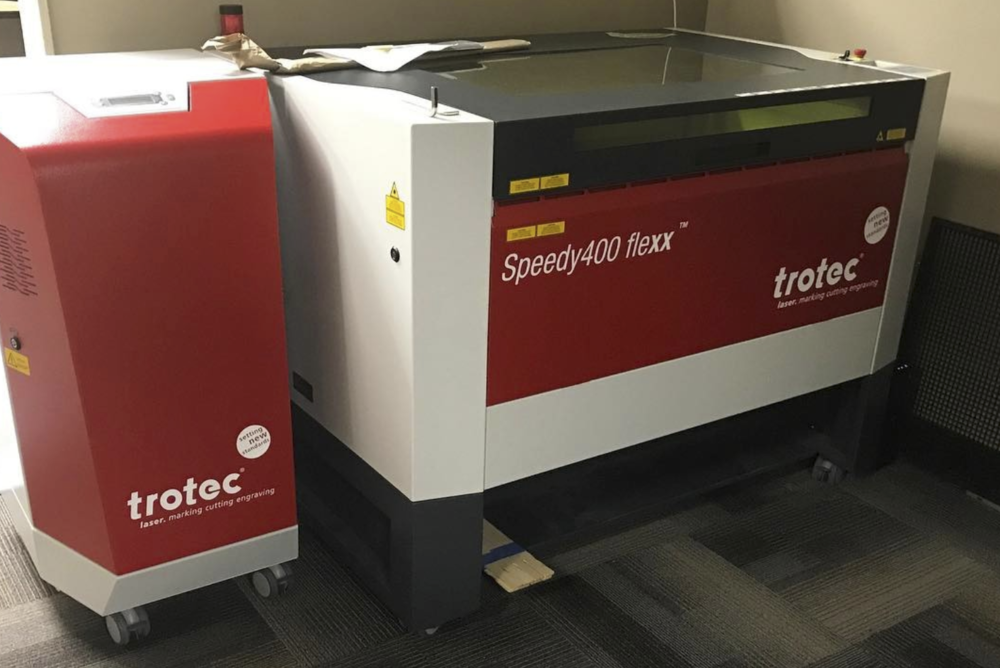 We exclusively utilize Trotec lasers and have developed our own high end computer systems to drive each machine.