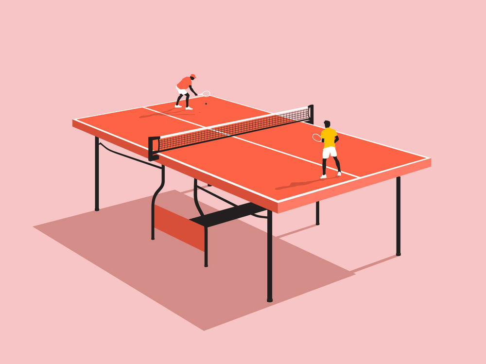 Table Tennis Illustration