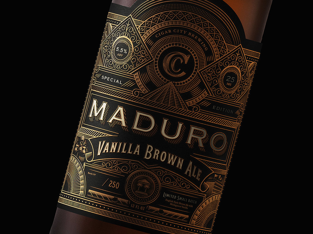 Cigar City Maduro Bottle Label Concept