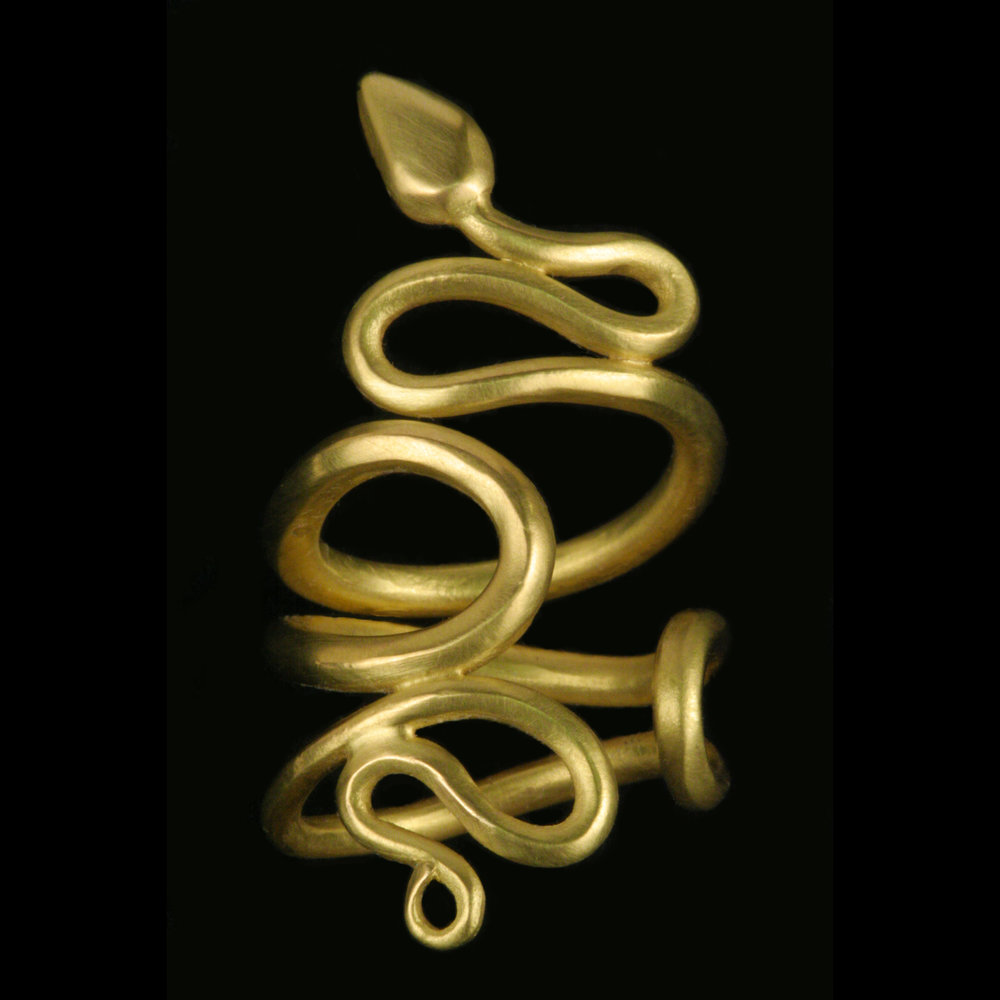 Her writing enthralled me, and the first time I laid eyes on her, she stepped onto stage, draped in a snake….
