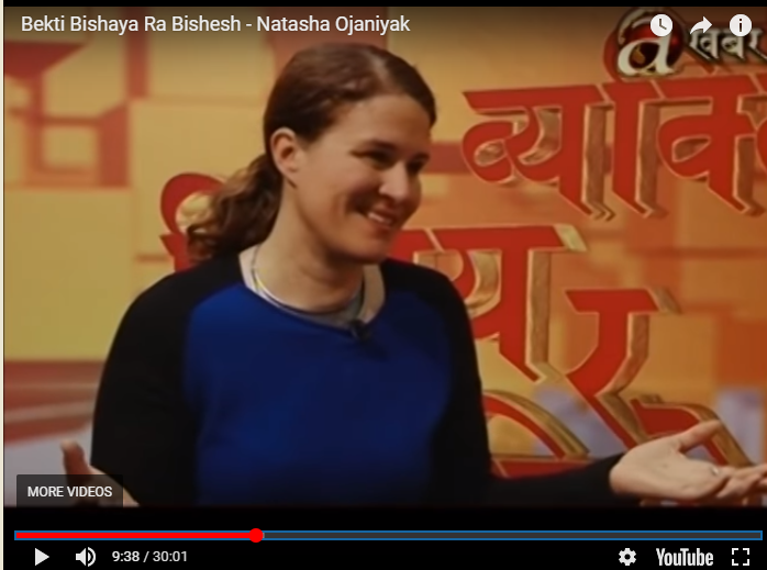 Braving my first live TV interview in Nepali.