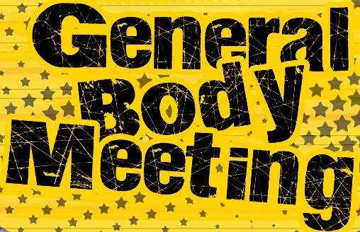 Monthly General Body Meeting - Fourth Monday of Every Month
