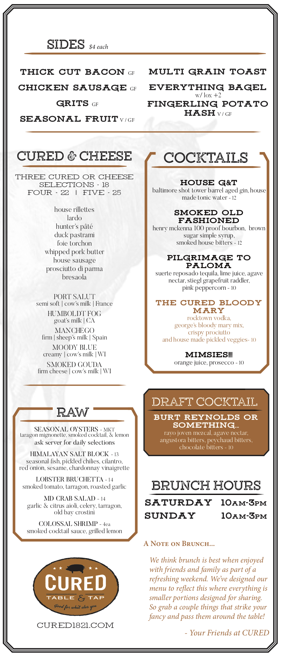 Brunch Menu Continued -