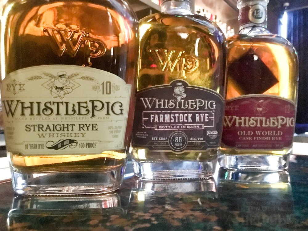 September's Rye Whiskey Prize Pack:    Whistle Pig 10 year old | Whistle Pig Farmstock Rye Crop #2 | Whistle Pig Old World Cask Finish Rye