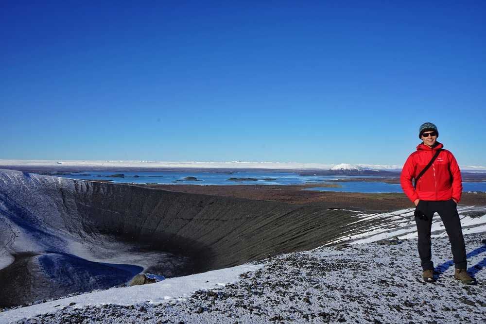 Exploring Hverfjall, a tephra cone near Krafla Power Plant
