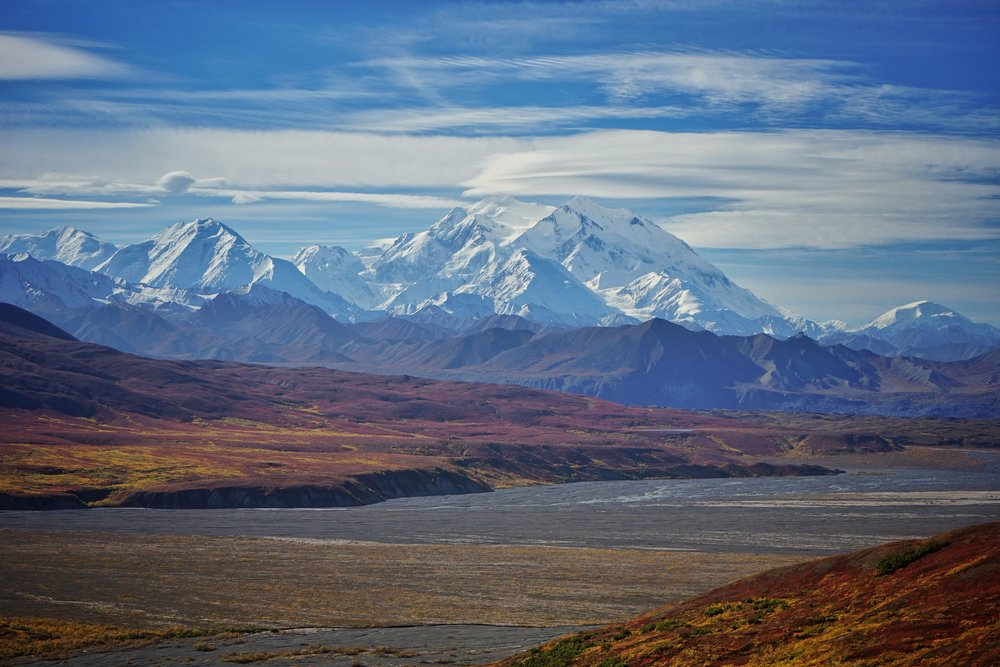 Denali, an enormous mountain (6190m) driven skyward by active dextral transpression on the Denali Fault. I wonder if the Denali Fault might create a similar elevated geothermal gradient as the Alpine Fault.