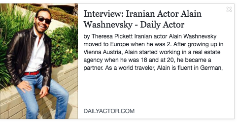 Daily Actor Interview 2013