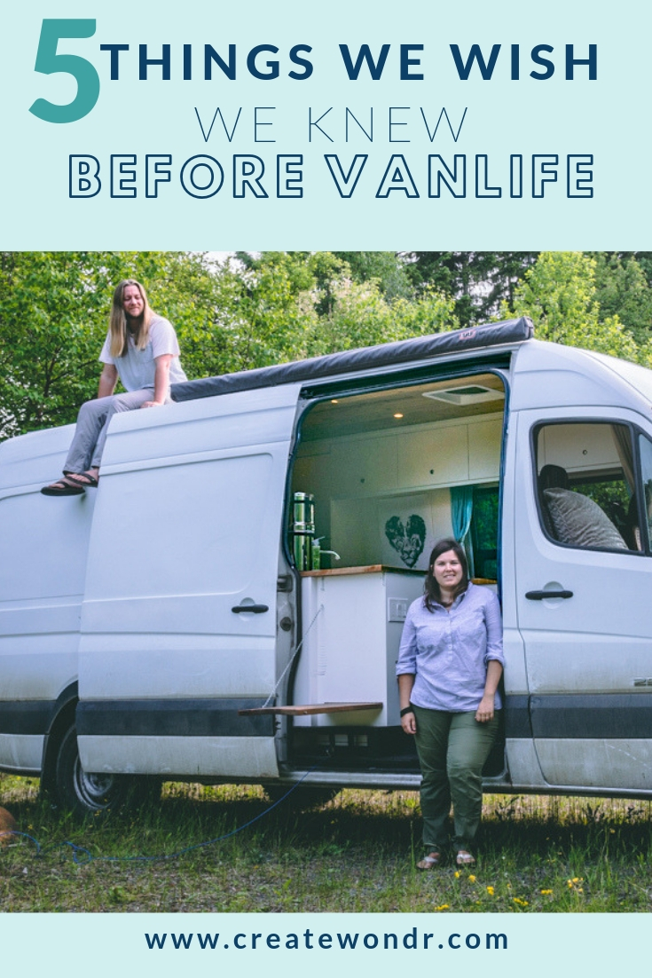 Create Wondr, Van life, 5 things to know before van life
