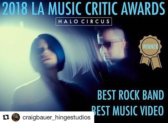 #Repost @craigbauer_hingestudios ・・・ Congrats @halocircus!  #robotsandwranglers still ranks as one of top records I've had the honor to mix.  #lamusiccriticsawards #halocircus #winner #mixingengineer #mixer #rock #electronica #musicproduction
