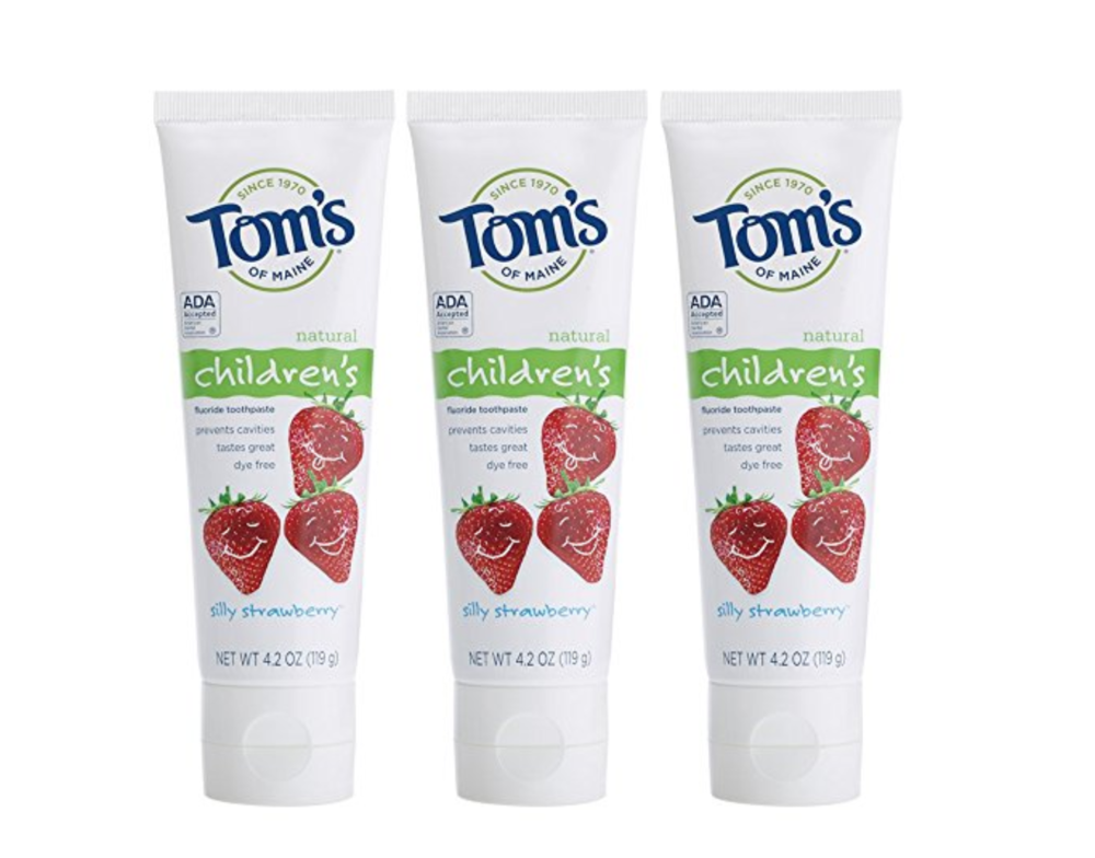 Tom's of Maine Anticavity Fluoride Children's Toothpaste, Silly Strawberry