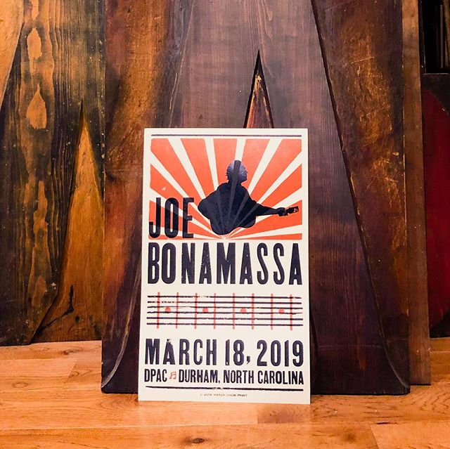 My Friend-Turn @linda_linda_linda and I collaborated for our first poster at Hatch. After many sketches and combinations of ideas, we came up with this design for blues artist Joe Bonamassa... the show was last night in North Carolina, so we're finally sharing our poster! Woo!