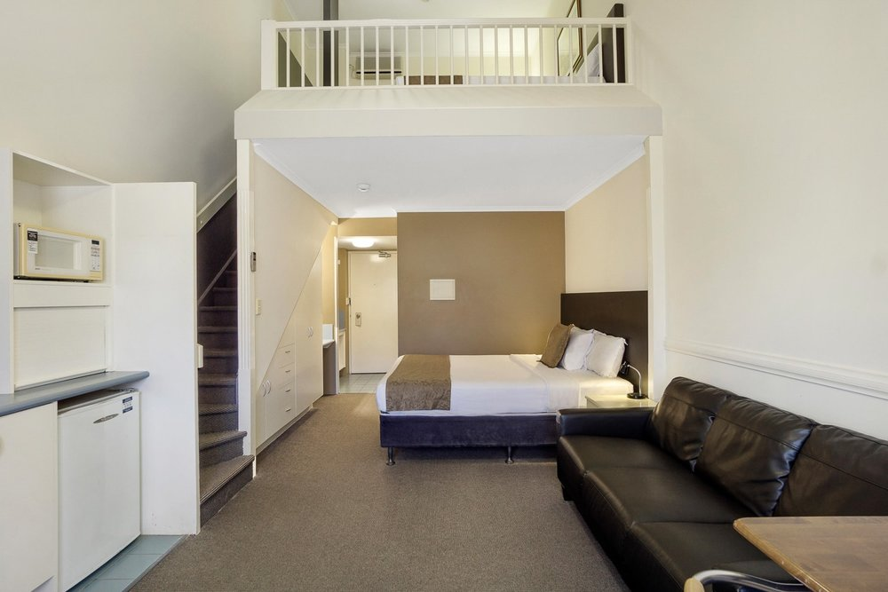 Family Loft - Ground Level: 1 x Queen BedLoft Level: 2 x Single BedsPrivate Ensuite • Free WiFi • Kitchenette • TV • AirconMORE INFO