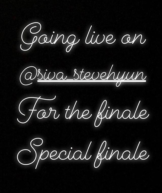 Going live on instagram handle @siva_stevehyun for the finale *special finale*  #h1ghrmusictour2018 #h1ghrmusic