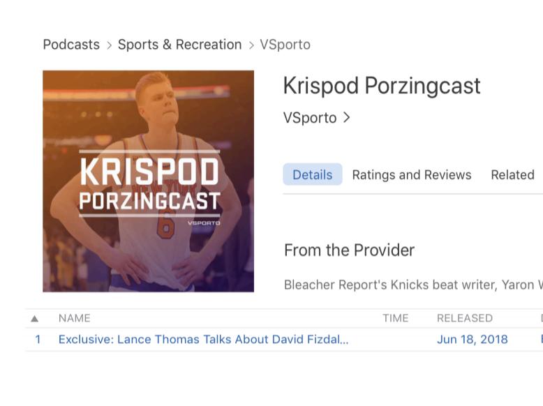 Krispod Porzingcast Podcast