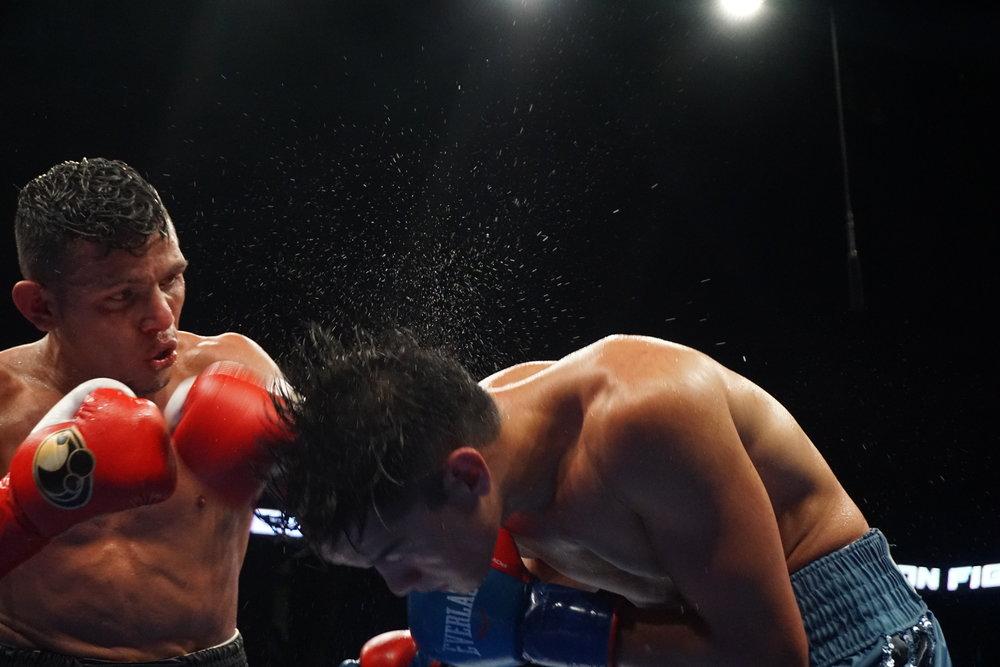 Escandon lands a hard punch on Figueroa by Andrea Antolini