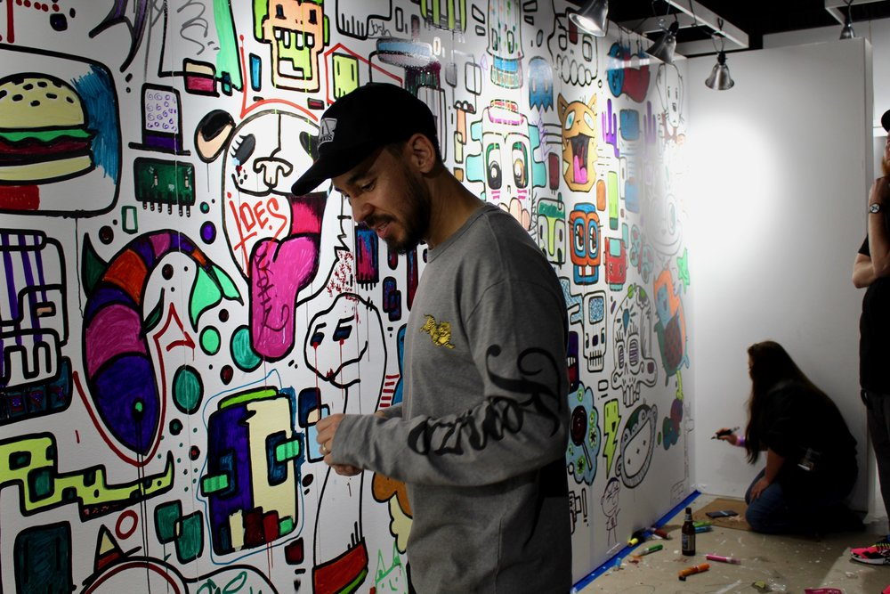 "Mike Shinoda after seeing Risk's name on the wall, ""Is Risk here?"""