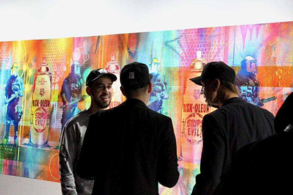 Mike Shinoda with Eddie Donaldson and Jim TAZ Evans