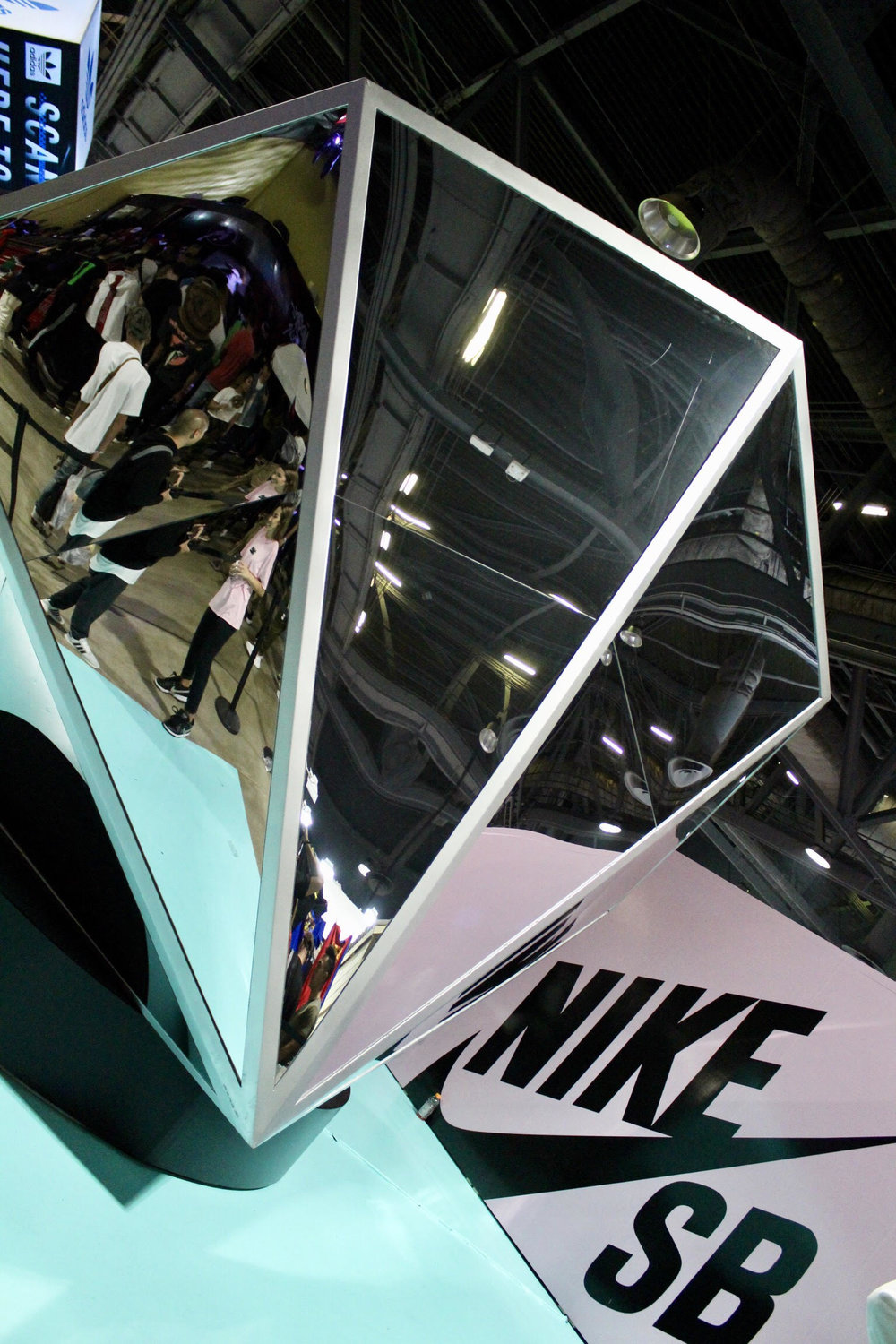 Nike SB x Diamond Supply Co. booth