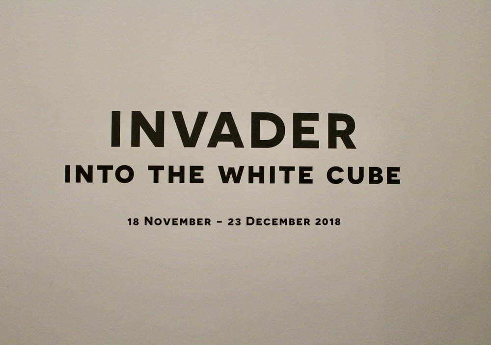 """""""INTO THE WHTIE CUBE"""" by Invader"""