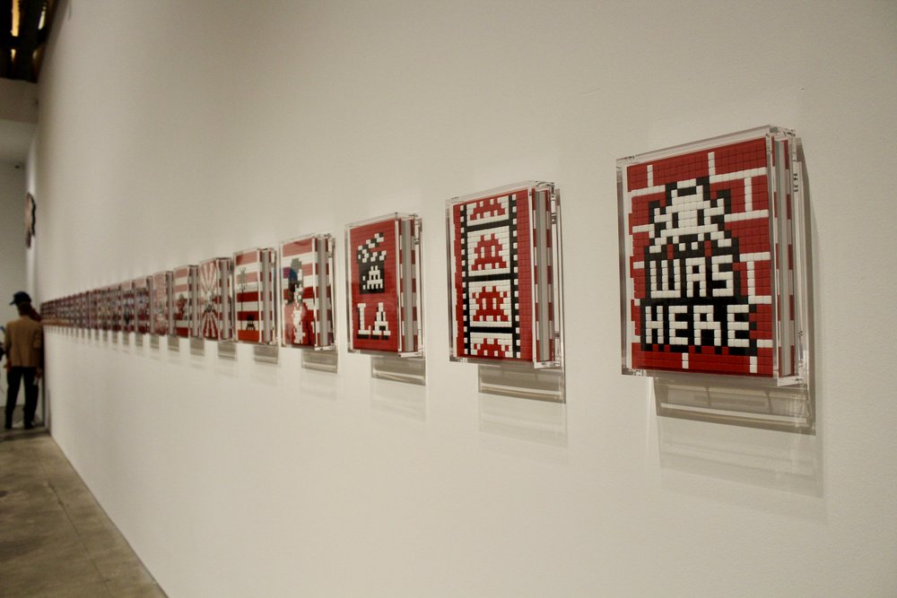 mosaic work by Invader