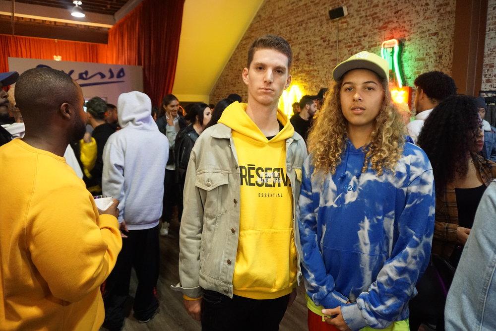 Olan Prenatt (right) with friend